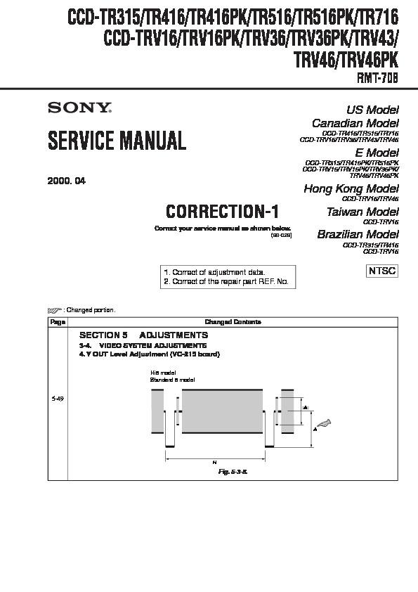 sony ccd tr315 ccd tr416 ccd tr416pk ccd tr516 ccd tr516pk ccd rh servicemanuals us sony ccd-trv16 manual sony handycam vision ccd-trv16 manual