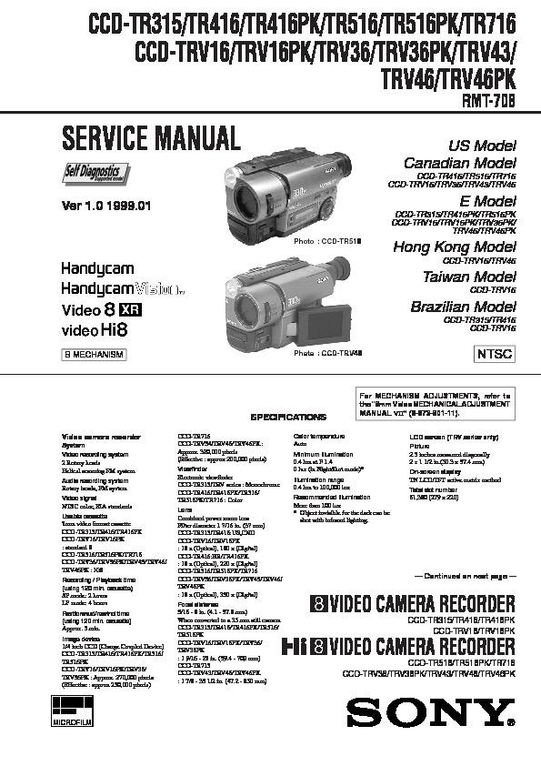 sony ccd tr315 ccd tr416 ccd tr416pk ccd tr516 ccd tr516pk ccd rh servicemanuals us sony handycam vision ccd-trv16 manual sony ccd-trv16 manual