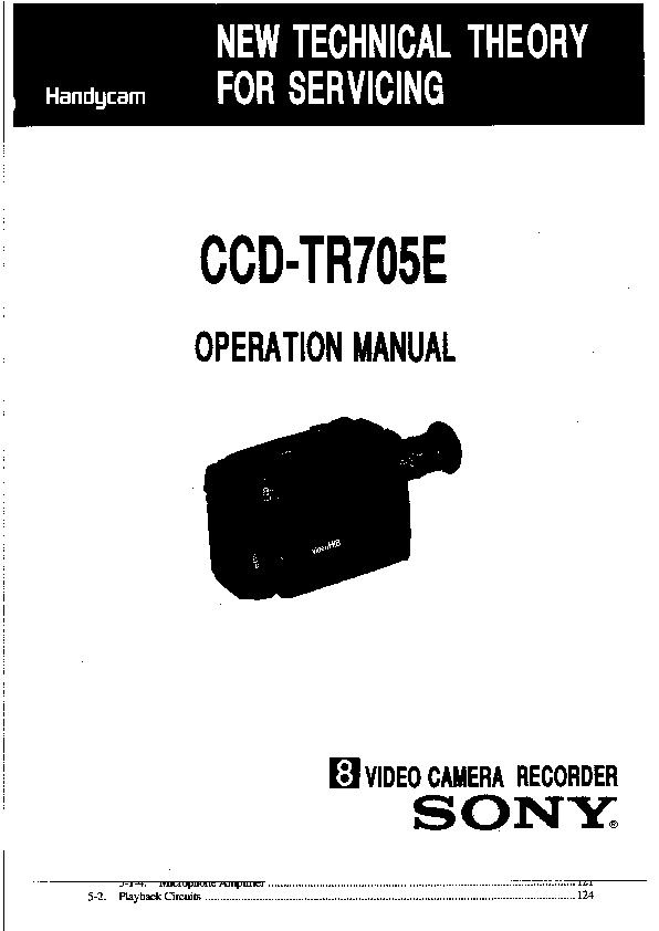sony ccd-tr705e service manual