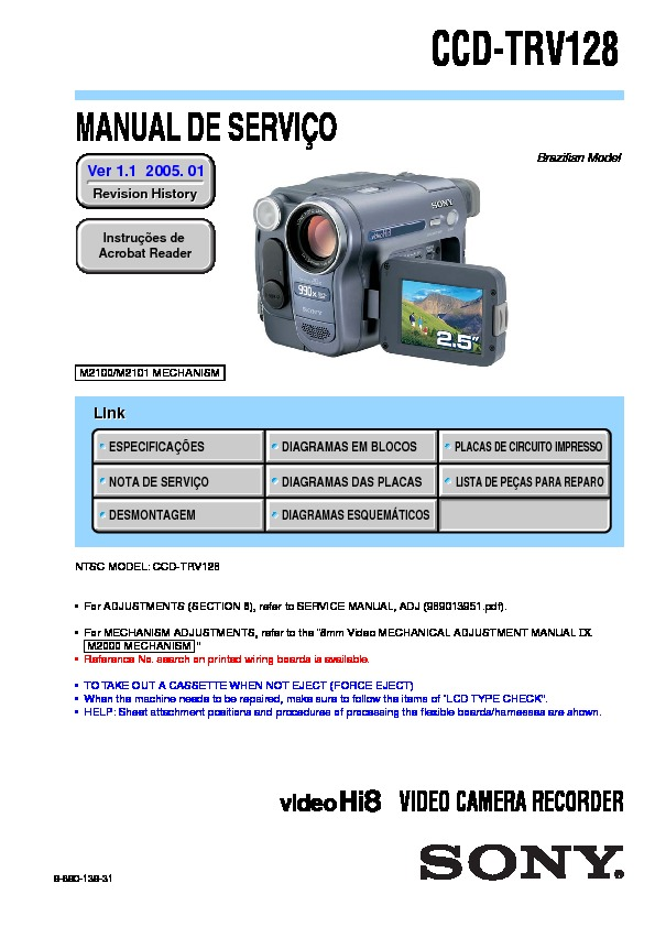 sony ccd trv128 service manual free download rh servicemanuals us Sony Ccd- Tr Sony CCD Camera