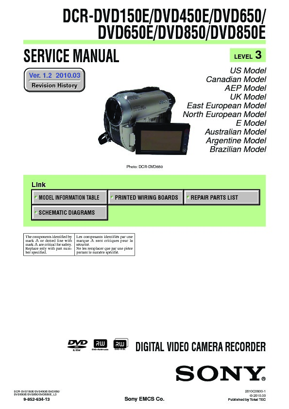 sony dcr dvd150e dcr dvd450e dcr dvd650 dcr dvd650e dcr dvd850 rh servicemanuals us sony dcr-dvd650 dvd camcorder manual filmadora sony handycam dcr dvd650 manual