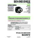 Sony DCR-DVD7, DCR-DVD7E Service Manual