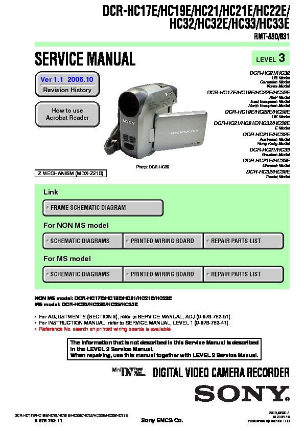 sony dcr hc17e dcr hc19e dcr hc21 dcr hc21e dcr hc22e dcr hc32 rh servicemanuals us sony handycam dcr-hc32 manual sony dcr-hc32 manual