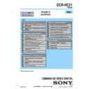 Sony DCR-HC21 (serv.man2) Service Manual