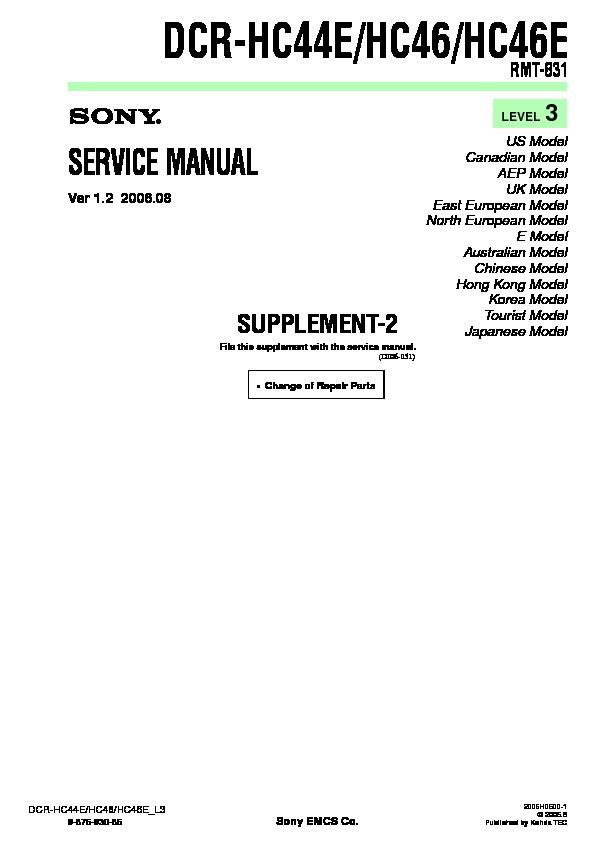 sony dcr hc44e dcr hc46 dcr hc46e serv man8 service manual rh servicemanuals us marantz ma-6 service manual MA6 Rifle