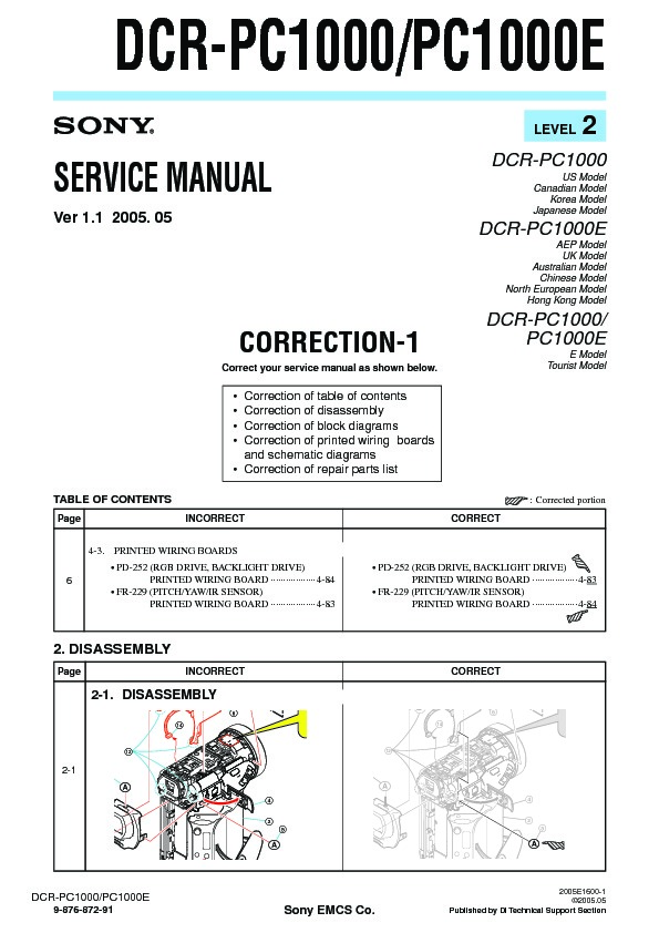 Control remoto Sony RMT-809 para Videocámara SONY DCR-PC1 DCR-PC1E DCR-PC10