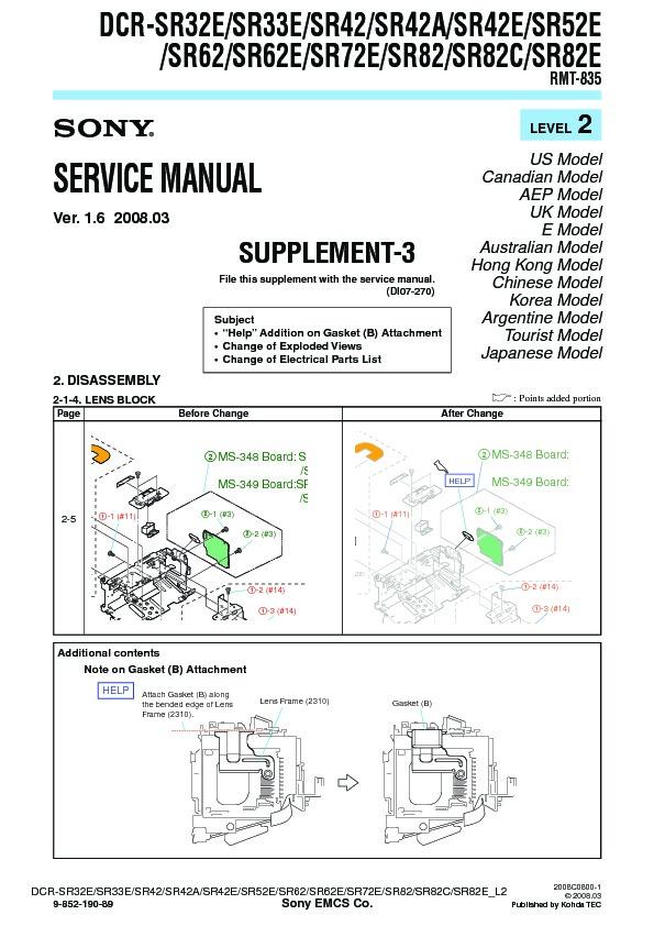 sony dcr sr32e dcr sr33e dcr sr42 dcr sr42a dcr sr42e dcr sr52e rh servicemanuals us sony handycam sr42 manual sony handycam hdd dcr-sr42 manual