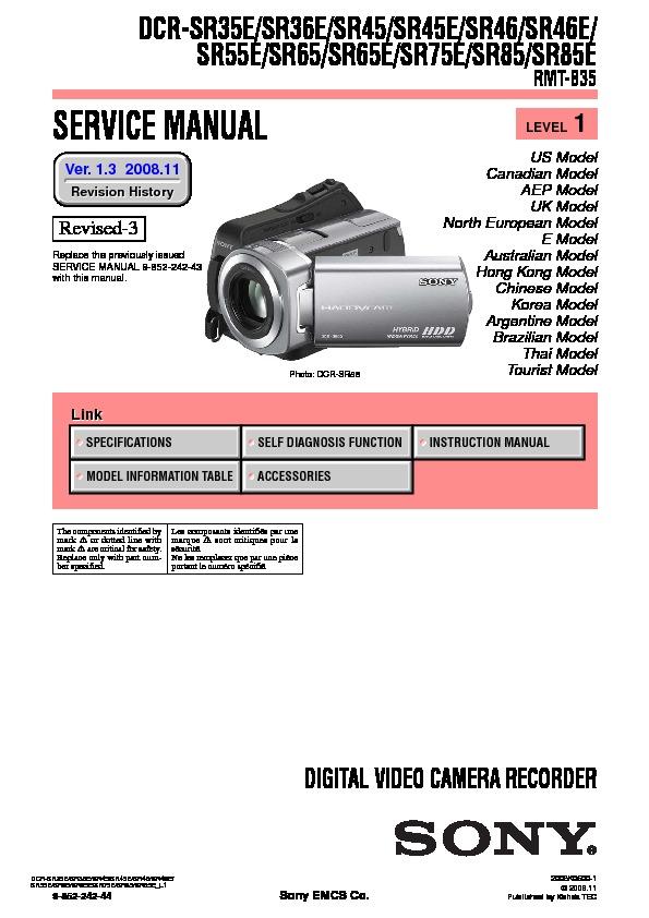 sony dcr sr35e dcr sr36e dcr sr45 dcr sr45e dcr sr46 dcr sr46e rh servicemanuals us sony dcr-sr85 manual manual sony dcr-sr85 español