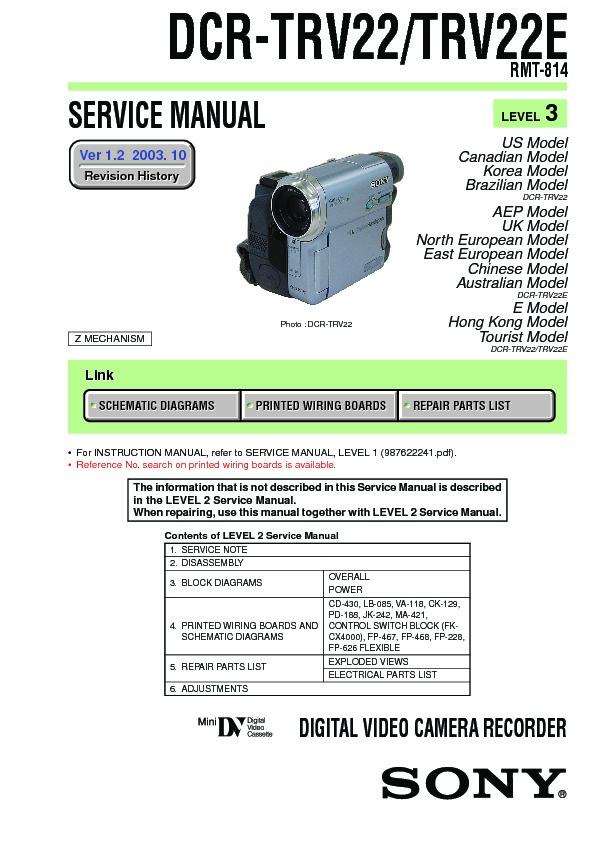 Sony dcr trv22 manual download