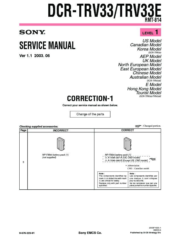 sony dcr trv33 dcr trv33e serv man6 service manual free download rh servicemanuals us sony handycam dcr-trv33 manual sony dcr-trv33e manual pdf