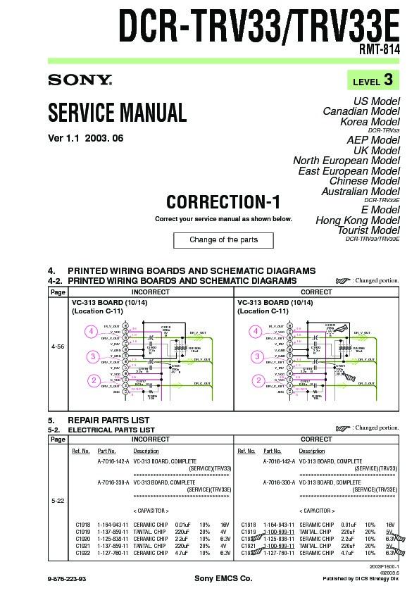 sony dcr trv33 dcr trv33e serv man8 service manual free download rh servicemanuals us sony handycam dcr-trv33 manual sony dcr-trv33e manual
