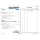 Sony DEV-30, DEV-50, DEV-50V (serv.man3) Service Manual