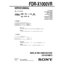 Sony FDR-X1000VR Service Manual