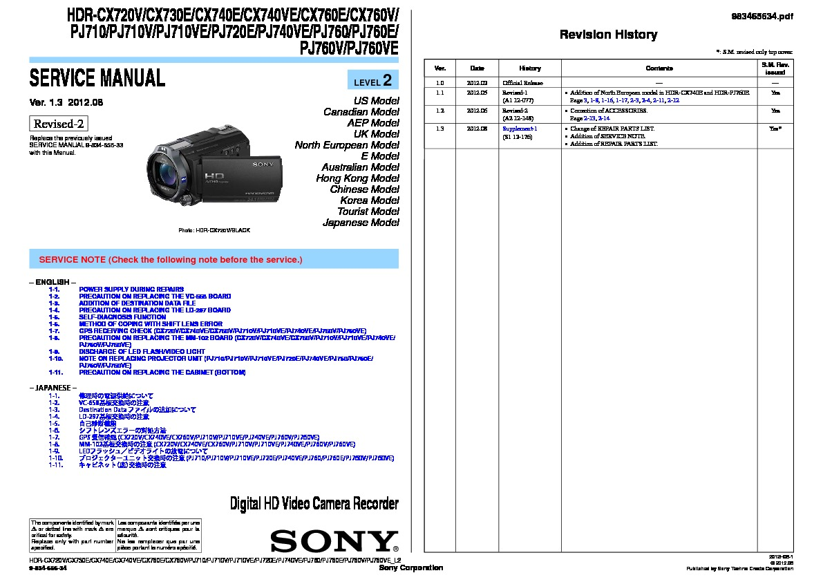 Battery Pack for Sony HDR-PJ710VE HDR-PJ720E HDR-PJ740VE Handycam Camcorder