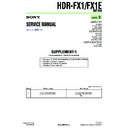 Sony HDR-FX1, HDR-FX1E, Q002-HDR1 (serv.man3) Service Manual