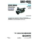 Sony HDR-FX1, HDR-FX1E, Q002-HDR1 (serv.man5) Service Manual