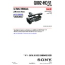 Sony HDR-FX1, HDR-FX1E, Q002-HDR1 (serv.man6) Service Manual