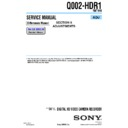 Sony HDR-FX1, HDR-FX1E, Q002-HDR1 (serv.man7) Service Manual