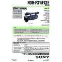 Sony HDR-FX1, HDR-FX1E, Q002-HDR1 Service Manual