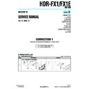 Sony HDR-FX1, HDR-FX1E (serv.man11) Service Manual