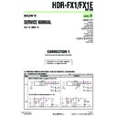 Sony HDR-FX1, HDR-FX1E (serv.man12) Service Manual