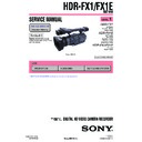 Sony HDR-FX1, HDR-FX1E (serv.man2) Service Manual