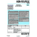 Sony HDR-FX1, HDR-FX1E (serv.man3) Service Manual