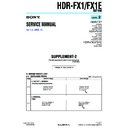 Sony HDR-FX1, HDR-FX1E (serv.man5) Service Manual