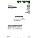 Sony HDR-FX1, HDR-FX1E (serv.man8) Service Manual