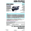 Sony HDR-FX1, HDR-FX1E Service Manual
