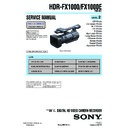 Sony HDR-FX1000, HDR-FX1000E (serv.man2) Service Manual