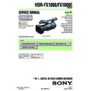 Sony HDR-FX1000, HDR-FX1000E Service Manual