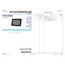Sony DPF-HD1000, DPF-HD700, DPF-HD800 Service Manual