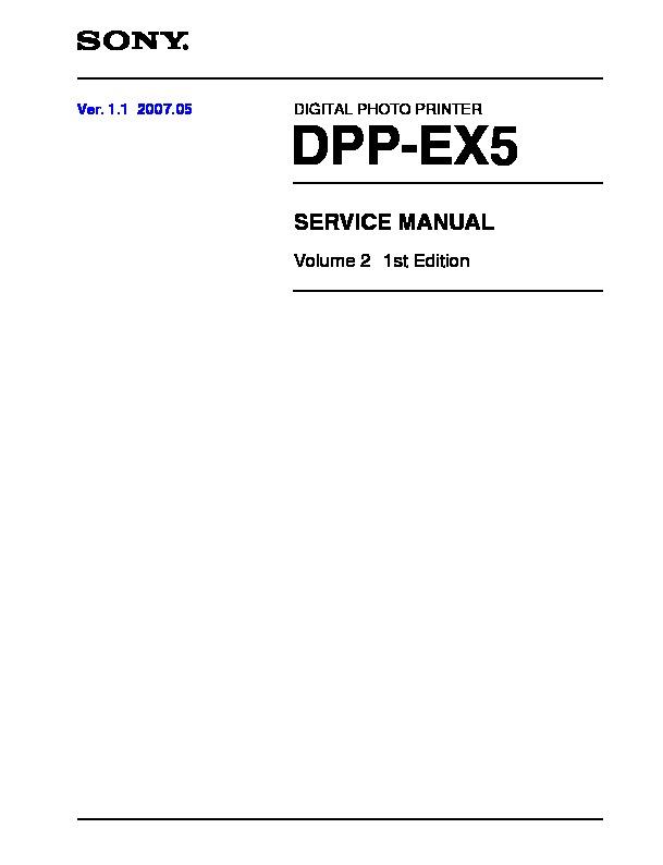 Sony Dpp-ex5 Service Manual