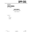 Sony DPP-EX5 (serv.man3) Service Manual
