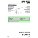Sony DPP-F700 Service Manual