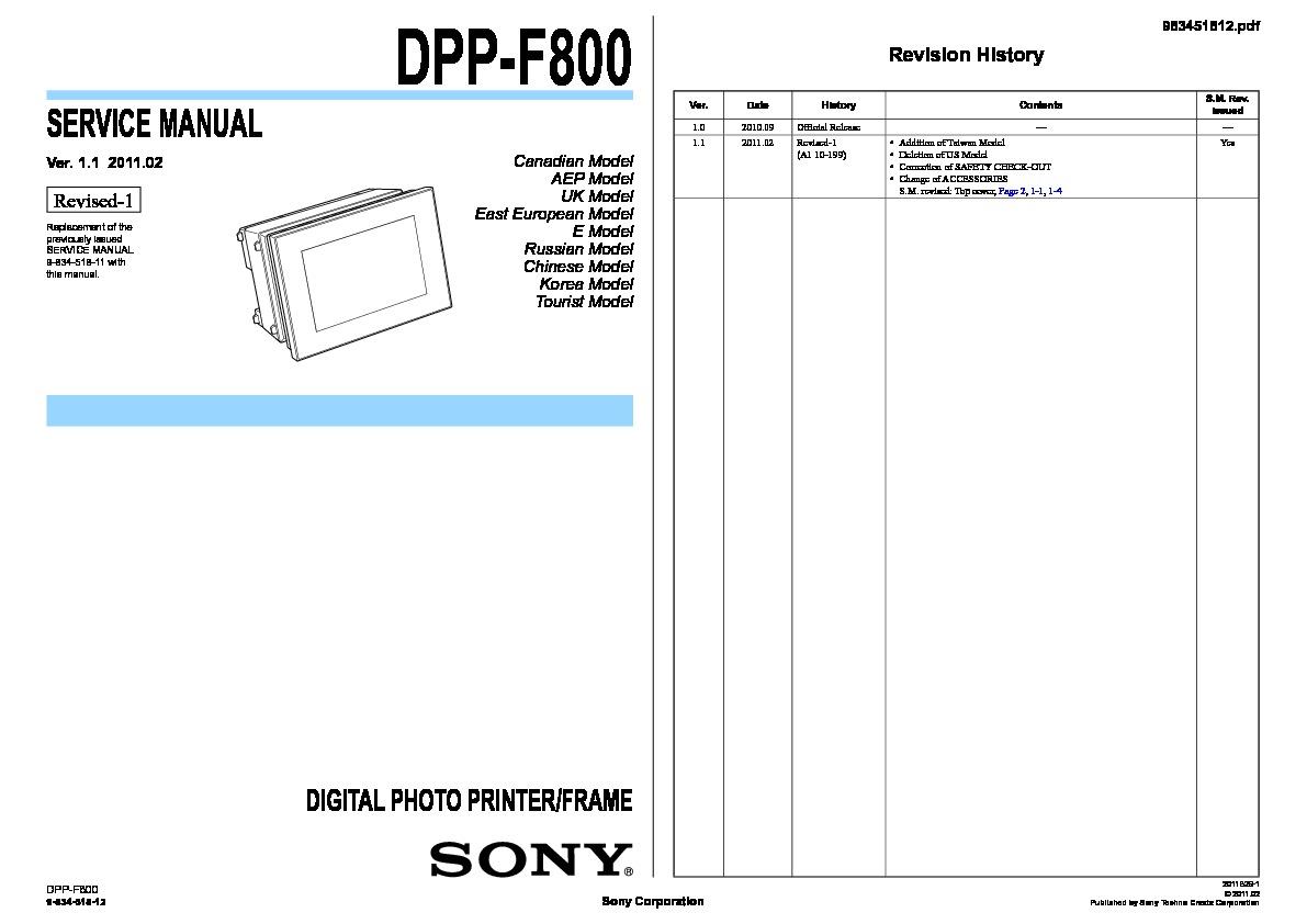 Sony Dpp F800 Driver Download