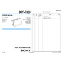 Sony DPP-F800 Service Manual