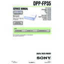 Sony DPP-FP35 (serv.man2) Service Manual
