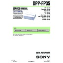 Sony DPP-FP35 Service Manual