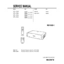 Sony RM-PJ2, RM-PJM11, VPL-CS4, VPL-CX4 Service Manual