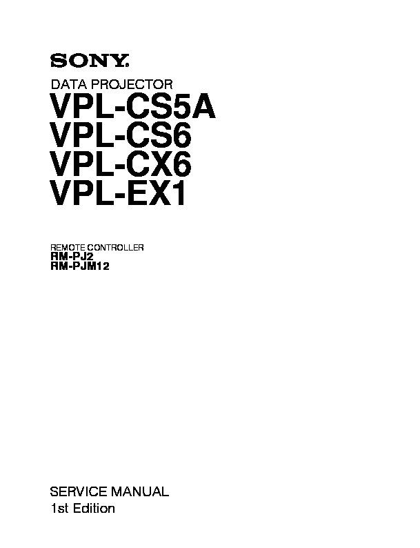 sony rm pj2 vpl cs7 vpl es2 service manual free download rh servicemanuals us sony svga vpl-cs7 manual sony projector vpl cs7 manual