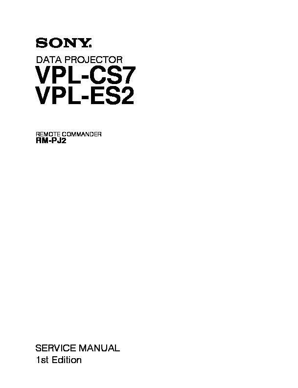 sony rm pj2 vpl cs7 vpl es2 service manual free download rh servicemanuals us vpl cs7 service manual sony vpl-cs7 manual usuario