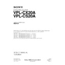 Sony RM-PJ3, VPL-CS20A, VPL-CX20A Service Manual