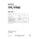 Sony RM-PJVW80, VPL-VW80 (serv.man3) Service Manual