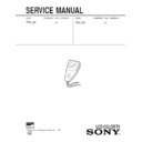 Sony FDL-22 Service Manual