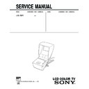 Sony FDL-252T Service Manual