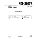 Sony FDL-390CV (serv.man2) Service Manual