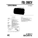 Sony FDL-390CV Service Manual