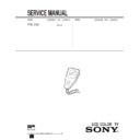 Sony FDL-E22 Service Manual
